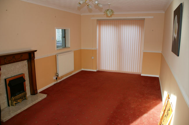 The Living area at the Property upper road madeley telford
