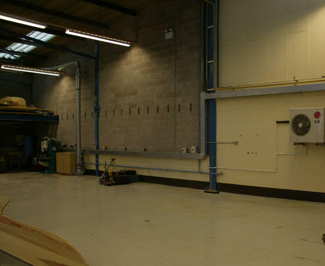 Inside of the Industrial units availaable at Stafford Park 4